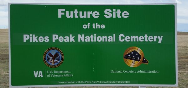 Pikes Peak National Cemetery Sign